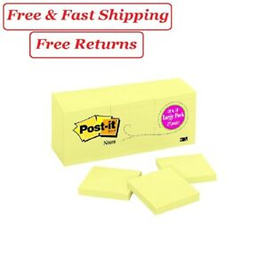 Post it Original Notes 3 X 3 Canary Yellow 27 Pads 2700 Total Sheets