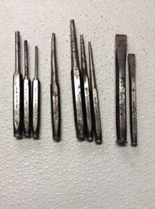 Snap on 9 Pc Punch And Chisel Set