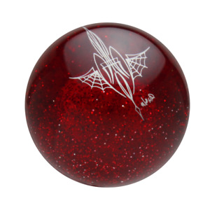 Speed Dawg Red Flake Von Hot Rod Pinstriped Spider Web Shift Knob Sk542vsw Ps