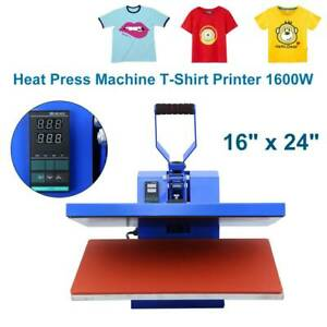 1600w 16 x24 Heat Press Machine Clamshell Sublimation Transfer T shirt Printer