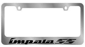 Chevrolet Impala Ss Word Chrome Wide Bottom License Plate Frame Official License