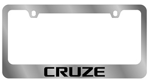 Chevrolet Chevy Cruze Chrome Wide Bottom License Plate Frame Official Licensed