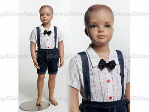 Child Fiberglass With Molded Hair Mannequin Dress Form Display mz kd2