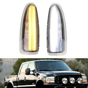 Clear Lens White Amber Switchback Led Side Mirror Lamps For 03 07 Ford F250 F350