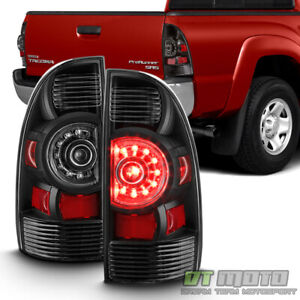 For Black 2005 2015 Toyota Tacoma Led Tail Lights Brake Lamps 05 15 Left Right