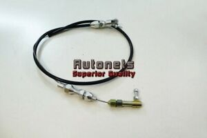 24 Stainless Steel Black Housing Throttle Gas Carburetor Cable Ford Chevy Gm