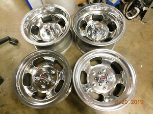 Set Vintage 15x7 15x8 5 Slot Mag Wheels Ford Van Truck 70 s Mags 100 150 5on5 5