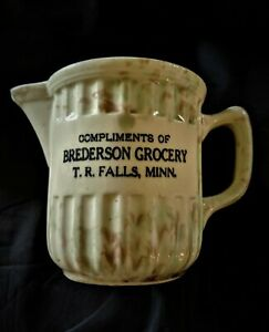 Red Wing Stoneware Crock Pitcher Thief River Falls Mn Ne Grand Forks