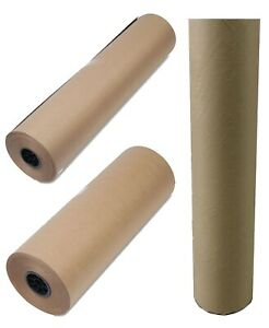50 Lb Kraft Brown Paper Roll Heavyweight Wrapping Packing Paper 36 24
