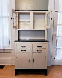 Antique Vintage Hamilton Style Art Deco Metal Dental Medical Cabinet 60 Tall