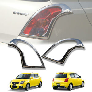 Chrome Tail Light Lamp Cover Rear Lamp Fit For Suzuki Swift 2004 2011