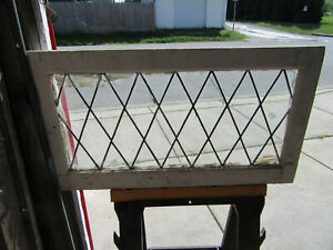 Antique Stained Glass Transom Window 1 Of 3 34 X 19 Architectural Salvage