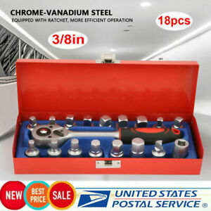 18pcs 3 8 Inch 24 Tooth Chrome Vanadium Ratchet Wrench Ratchet Socket Wrench Set