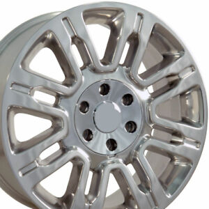 20x8 5 Wheels Fit Ford Trucks Expedition Style Polished Rims 3788 Set oew