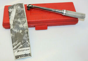 Snap On Qjr217c 3 8 Drive 9 1 2 Long Torque Wrench 30 200in Lbs With Case