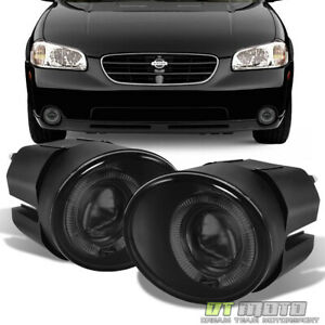 For 2000 2001 Maxima 01 04 Frontier 00 03 Sentra Led Halo Projector Fog Lights