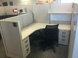 Used Office Cubicles Knoll Dividends 6x6 Cubicles