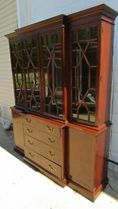 Henkel Harris Breakfront China Cabinet Mahogany