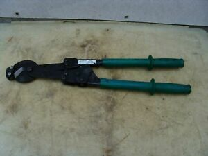Greenlee 757 Ratchet Cable Cutter Works Great 9 4 5