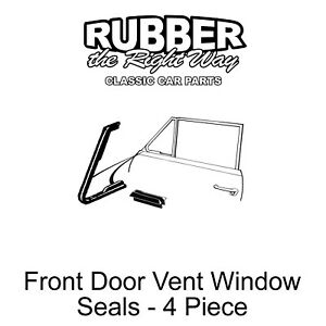 1950 late 1951 Ford Vent Window Seals 4 Pieces Convertible Victoria