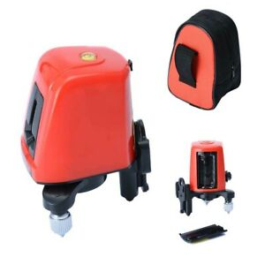 Ak435 360 Degree Self leveling Cross Laser Level Red 2 Line 1 Point Home Replace