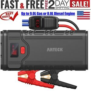 2000a Peak Qdsp Car Jump Starter 22400mah 12v Starter Battery With Clamp Cables