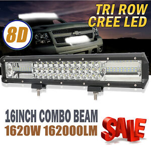 3 Row 16 Inch Led Work Light Bar Cree Combo Beam Driving Lamp Offroad Truck Us