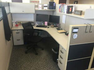 Used Office Cubicles Knoll Dividends 6x8 Cubicles