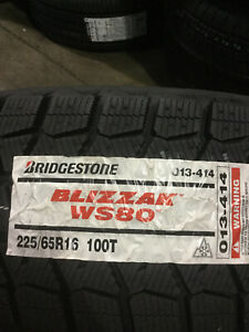 4 New 225 65 16 Bridgestone Blizzak Ws80 Snow Tires