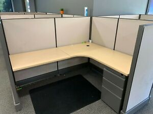 Used Office Cubicles Open Plan O2 5x6 Cubicles