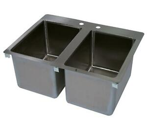 John Boos 2 Compartment Drop In Hand Sink 10 X 14 X 10 Bowls