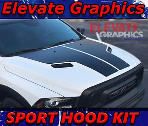 Fits Dodge Ram Sport Hood Stripes 1500 Graphics Racing Decals Vinyl 3m 2009 2018