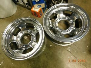 Vintage Polished Rare 8 Lug 15x7 Slot Mag Truck Wheels Ford Dodge Chevy Gmc Van