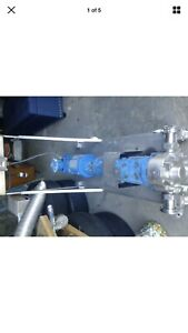 Food Grade Positive Displacement Gear Pump Tefo Motor On Skid Stainless Steel