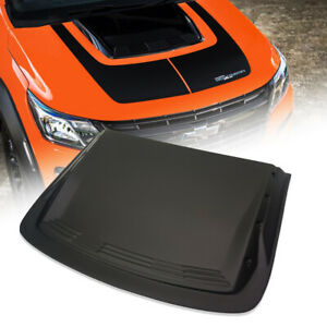 For Chevrolet Chevy Colorado My17 2012 2020 Bonnet Hood Scoop Matt Matte Black