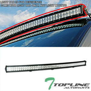 Topline For Chevy T1a 54 312w Cree Curved Led Light Bar Spot Flood Fog Lamp