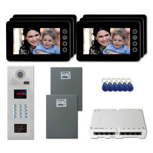 New Office Building Security Video Intercom System Kit With 6 7 Color Monitor