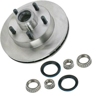 Mustang Ii Disc Brake Rotor And Bearing Seal Kit 5 On 4 3 4 Inch