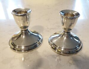 Vintage Duchin Sterling Silver Weighted Candlesticks Candle Holders 1950 S Pair