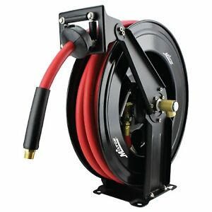 Milton 2780 50d Steel Dual Arm Auto retractable Air Hose Reel 1 2 X 50 Ft R