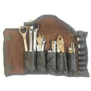 Vintage Honda Motors Hm Rk Tool Kit Wrenches Sockets Carrying Case Motorcycle