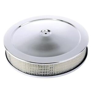 Chrome Deep Dish Performance Air Cleaner 14 X 4 Inch 4 Barrel Carb