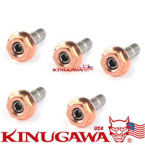 Turbo Stainless Stud Kit Egged Nuts M8x1 25mm For Garrett Gt25 Gt28 Nissan