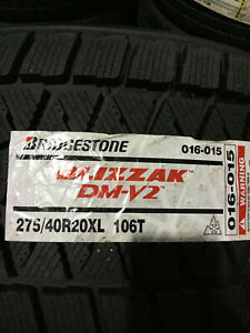 1 New 275 40 20 Bridgestone Blizzak Dm v2 Snow Tire