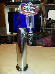 Taprite Beer Tower Single Tap Chrome Stainless Draft Keg Cooler W Schmidt s Tap