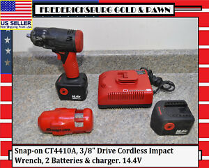 Snap on Ct4410a 3 8 Drive Cordless Impact Wrench 2 Batteries