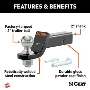 Curt Trailer Hitch 2 Inch Ball Mount 5 8 Inch Hitch Pin Hole 2 Inch Receiver