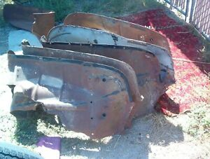 Two Sets Cut 1956 Chevrolet Inner Front Fenders Left And Right One Left