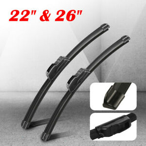 Front Windshield Wiper Blades 22 26 Oem Quality All Season J Hook Frameless