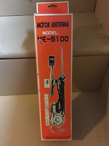 Vintage Car Motor Antenna Model Me 5100 New Old Stock With Vintage Box